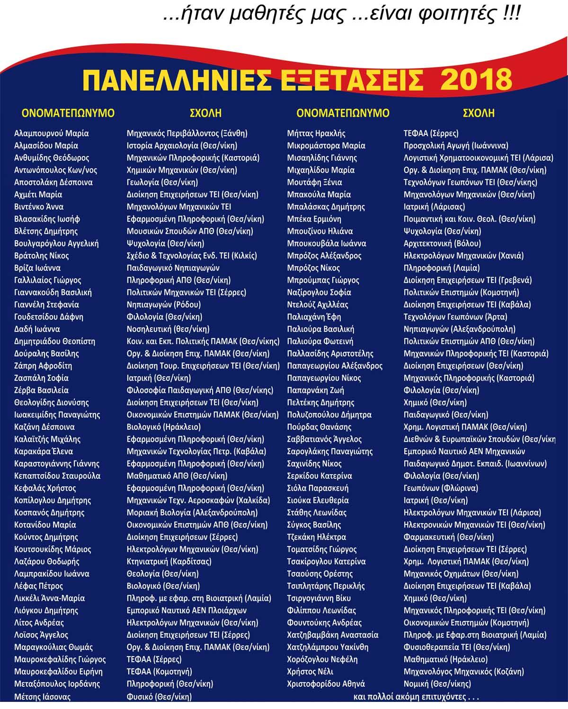 epitixontes 2018